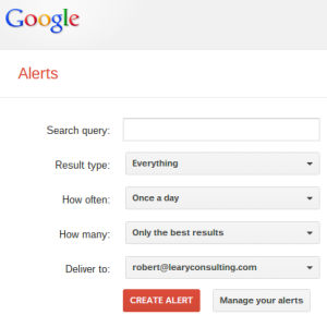 Google Alerts Screen Cap